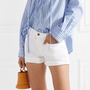 Frame Denim Le Cutoff Shorts in White